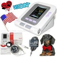 US Seller,Veterinary Blood Pressure Monitor SPO2 NIBP Pulse Heart Rate+Software,Color Screen,Tongue Spo2 Probe,6 11CM Cuff,SW