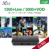 H 265 Europe Arabic French IPTV Channels Android IPTV TV Box S912 X92 2G 16G Support