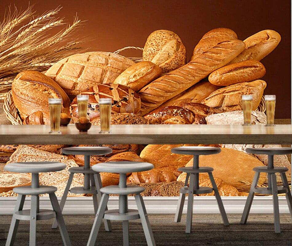 Aliexpress buy bakery wallcoverings wheat with bread