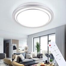 現代の 220v 80 ワットラウンド Led シーリングライトランプ器具リモコン屋内家の家のリビングルームキッチン寝室