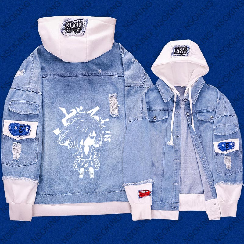 New Dororo Hyakkimaru  hoodie Anime reflect light Jeans Coat Men Women Fashion Jacket