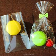 Прозрачный плоский открытый Топ конфеты сумки печенья упаковочный мешочек для свадьбы Вечерние конфеты леденец Поп пластиковый пакет маленький Подарочный мешочек 100 шт./лот