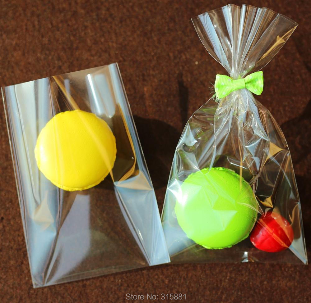 """Bags 5/"""" x 3.5/"""" x 13/"""" 100 Poly Gusset Clear Open Top Plastic Storage Gift,Candy"""