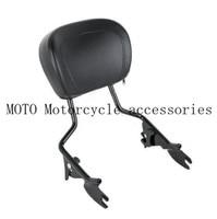 Motorcycle Black Sissy Bar Upright Passenger Backrest W Pad For Harley Touring Street Glide Road Glide