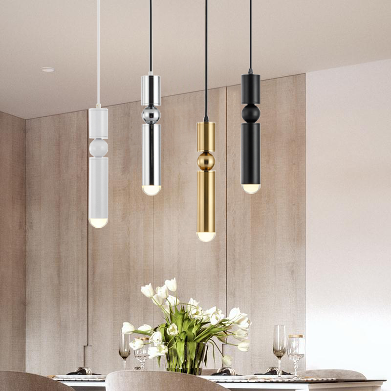Nordic Bar Small Chandelier Creative Personality Simple Modern Brass Minimalist Style Restaurant Bedroom Bedside Headlights
