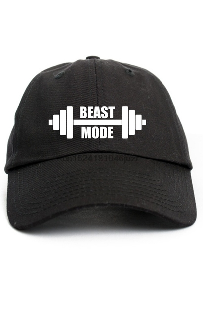 Beast Mode Gym Dad Hat Adjustable Baseball Cap-in Baseball Caps from ... 22c9ccc781be