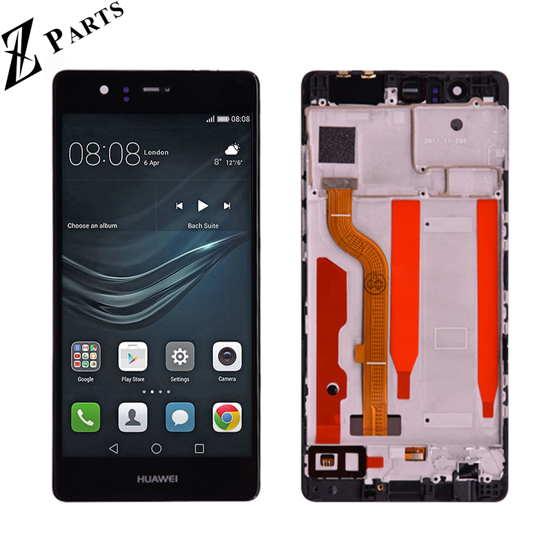 Original 5.2 For Huawei P9 EVA-L09 L19 L29 LCD Display With Touch Screen Digitizer Assembly with frame free shippingOriginal 5.2 For Huawei P9 EVA-L09 L19 L29 LCD Display With Touch Screen Digitizer Assembly with frame free shipping