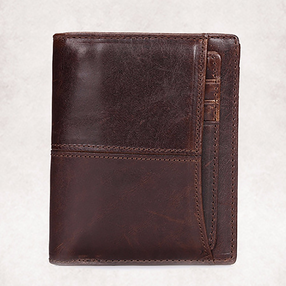 Genuine Leather Men Short Wallet Famous Brand Small Clutch Money Bag Coin Pocket Card Holder Male Oil Wax Cowhide Bifold Purse 2017 genuine cowhide leather brand women wallet short design lady small coin purse mini clutch cartera high quality