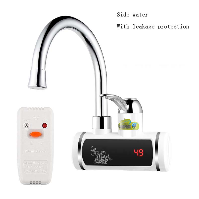 Electric Water Heater 220V Electric Faucet Kitchen Instant Hot Water Heater Digital Display Bottom/Lateral Intake Type  H0145