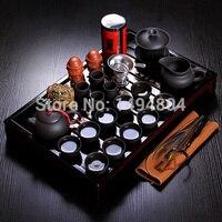 Chinese Teaset Tea Set Yixing Ceramic Kungfu Tea Sets 26pcs Solid Wood Tea Tray Kungfu Tea