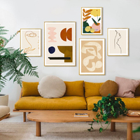 حديث تجريدي اسكندنافية قماش اللوحة المشارك والمطبوعات معرض جدار الفن البوب صور لغرفة المعيشة ديكور المنزل الداخلي