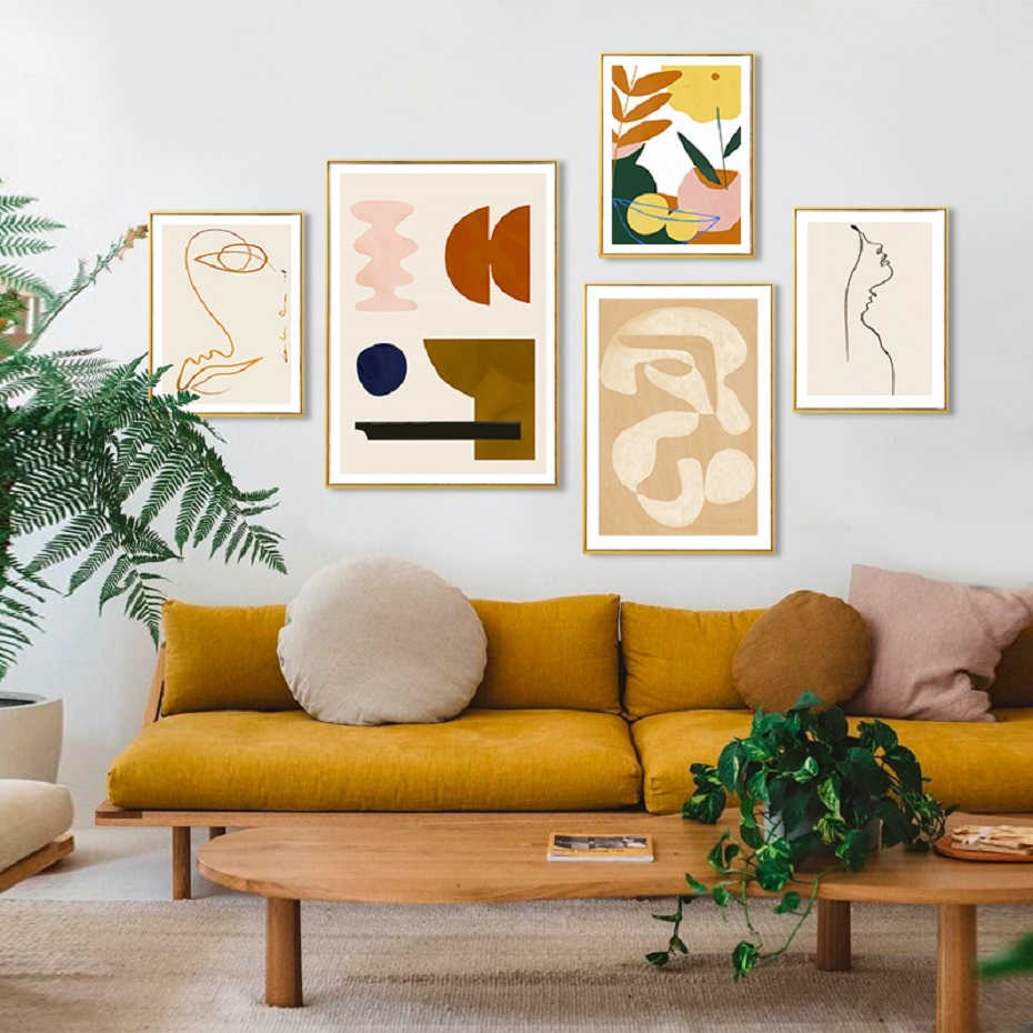 Modern Abstract Sicandinavia Canvas Painting Poster and Prints Gallery Wall Art POP Pictures for Living Room Interior Home Decor