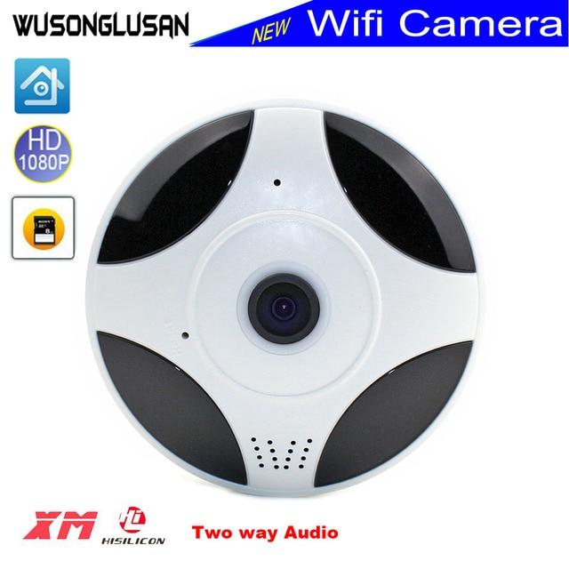 US $26 36 29% OFF|Wireless wifi IP Mini Panoramic Camera 2MP 1080P FishEye  360 Degree 3D VR Motion detector CCTV Web Cloud Camera IP iCsee XMeye -in