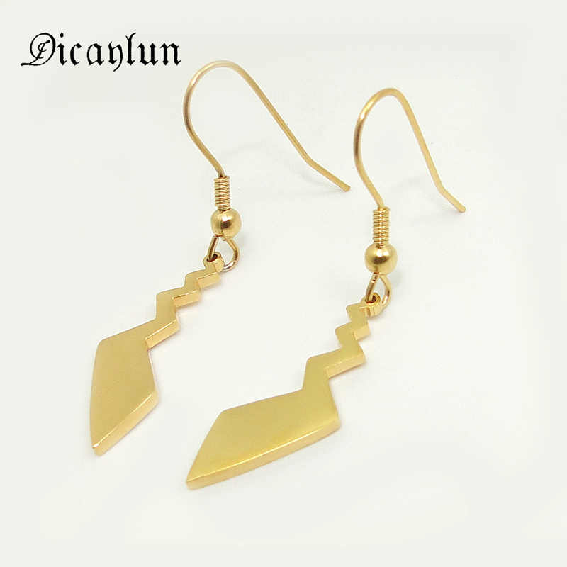 DICAYLUN Anime Pokemon Earrings Gold Pikachu Tail Drop Earings Jewelry Classic Pocket Monster Cartoon Stainless Steel Women Gift