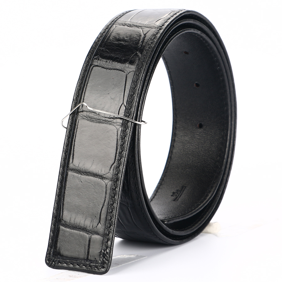 BATOORAP 2019 Real High Quality Men Belt Crocodile leather Belts Luxury Brand Designer Belts Black