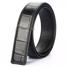 Фотография [BATOORAP] 2017 Real High Quality Men Belt Crocodile leather Belts Luxury Brand Designer Belts Black