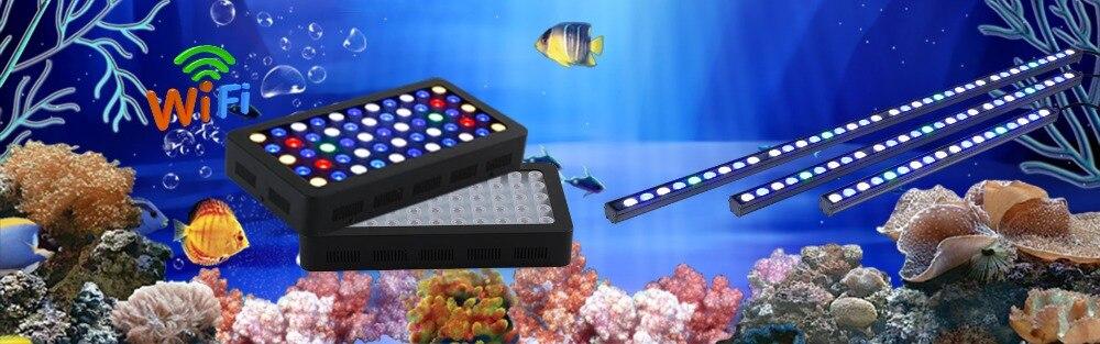 Wifi 165 Вт морской аквариум светодиодный светильник ing с регулируемой яркостью полный спектр светодиодный светильник для аквариума для коралловых рифов аквариум для растений в США/де