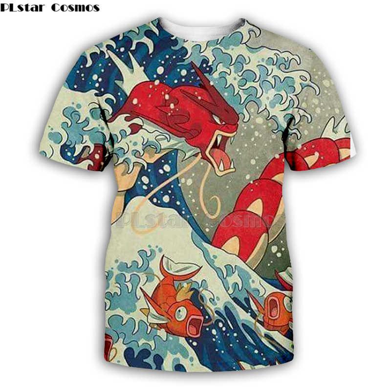 PLstar Cosmos Kanagawa Surf WAVE พิมพ์ T เสื้อ 2019 ผู้หญิงฤดูหนาว Man สะโพก Hop เสื้อลำลอง Streetwear-6