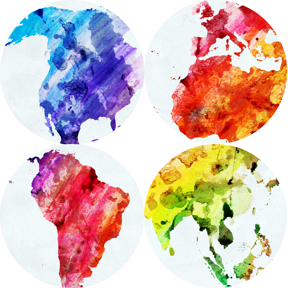 Watercolor world map posters and prints for baby room abstract wall watercolor world map posters and prints for baby room abstract wall graffiti map art canvas pictures for living room decoration in painting calligraphy gumiabroncs Choice Image