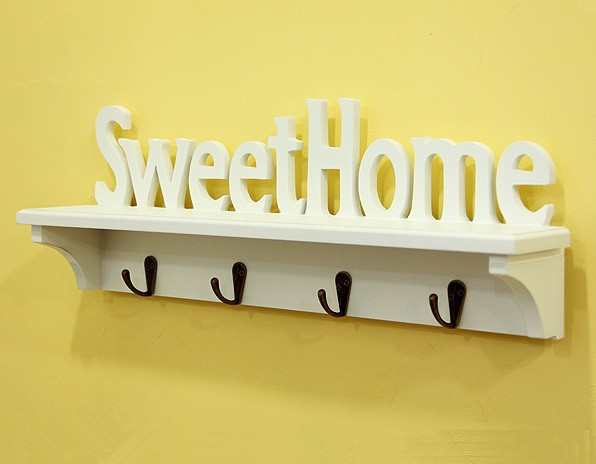SweetHome bedroom decor wall shelving word partition wall mount ...