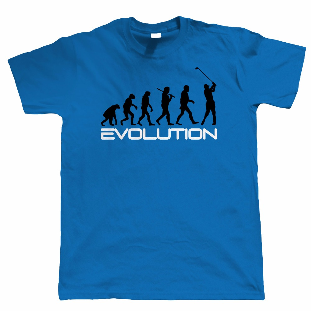 MenS New Arrival Summer Style T-Shirts Leisure Fashion Evolution Of Golfs, Funny Mens T Shirt - Great Gift T Shirt Designs