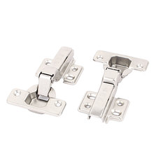 UXCELL Kitchen Door Cabinet Self Closing Half Overlay Concealed Hinges Hardware 2 Pcs