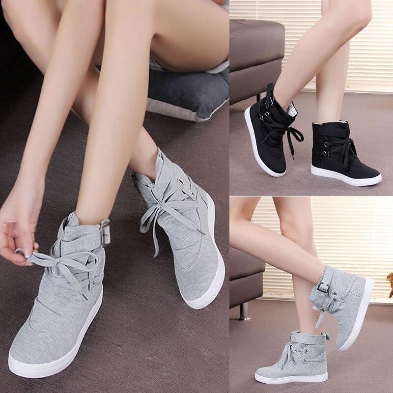 4ba7d7b9ce58 Black Di Tela Casuali Invernali Comode Up Moda Mujer Zapatos Stivali Scarpe  Della Caviglia Donne grey Delle Af443 Lace De Autunno pqwnCSU