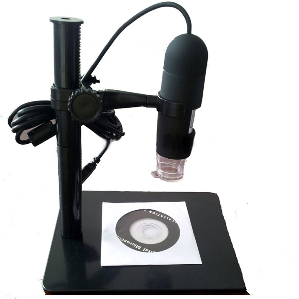 5MP 10- 220X Magnification 8-LED USB 2.0 Digital Microscope Endoscope with Stand for Education Industrial Biological