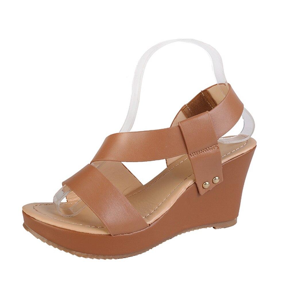 3a214e929 SAGACIDADE Moda Com Tira No Tornozelo Cunhas Plataforma das Mulheres  Sandálias Romanas Sapatos Sapatas Das Senhoras Sexy de Alta Qualidade Fora  Do Verão ...