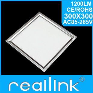 Realink LED Panel Light Lamp  Eco-friendly Smd3014 10W 300x300x12.7mm Slim  High Power Cold Wihte Bedroom Ceiling Square
