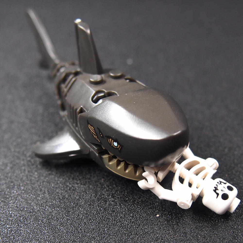 Ghost Zombie Shark Action Bricks Single Sale Pirates of the Caribbean Building Bricks Toys For Children purple dragon 8 inch pet shears for dogs cats fishing bone left handed thinning shears pet hair clippers this goods for pets
