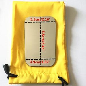 Image 4 - 5pcs שיניים אורתודונטי Intraoral רפלקטור צילום מראה 2 צדדי רודיום זכוכית מראות עם אחסון תיק למרפאת שיניים