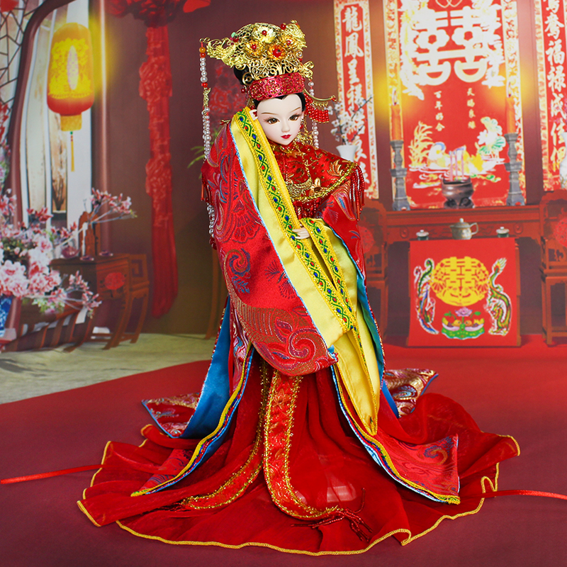Fortune days Chinese brand doll Ming Dynasty Bride joint body East Charm including box stand clothes shoes 35cm gift present 1