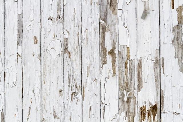 Vintage Wood Photography Backdrop Distressed White Planks Floordrop Digital Printed Vinyl Studio Photo Background D