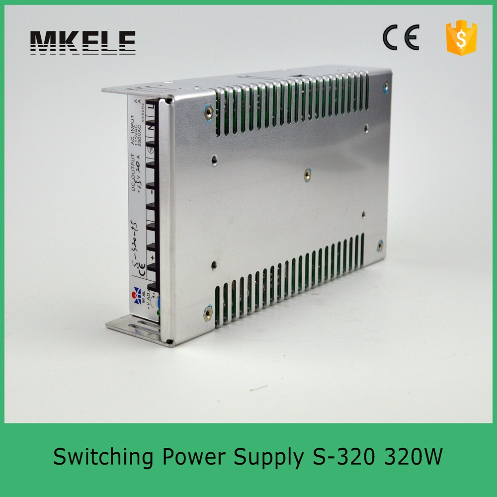 ФОТО 320W switch power supply CE ROHS ISO9001 high efficiency 220v ac to 24v dc S-320-24 12.5a switching model power supply