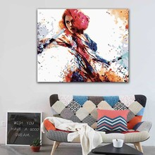 DIY colorings pictures by numbers with colors Black Widow The Avengers picture drawing painting framed Home