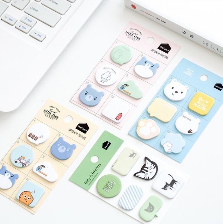 Snacks Mobilization Memo Pad Sticky Notes Memo Notebook Stationery Papelaria Escolar School Supplies