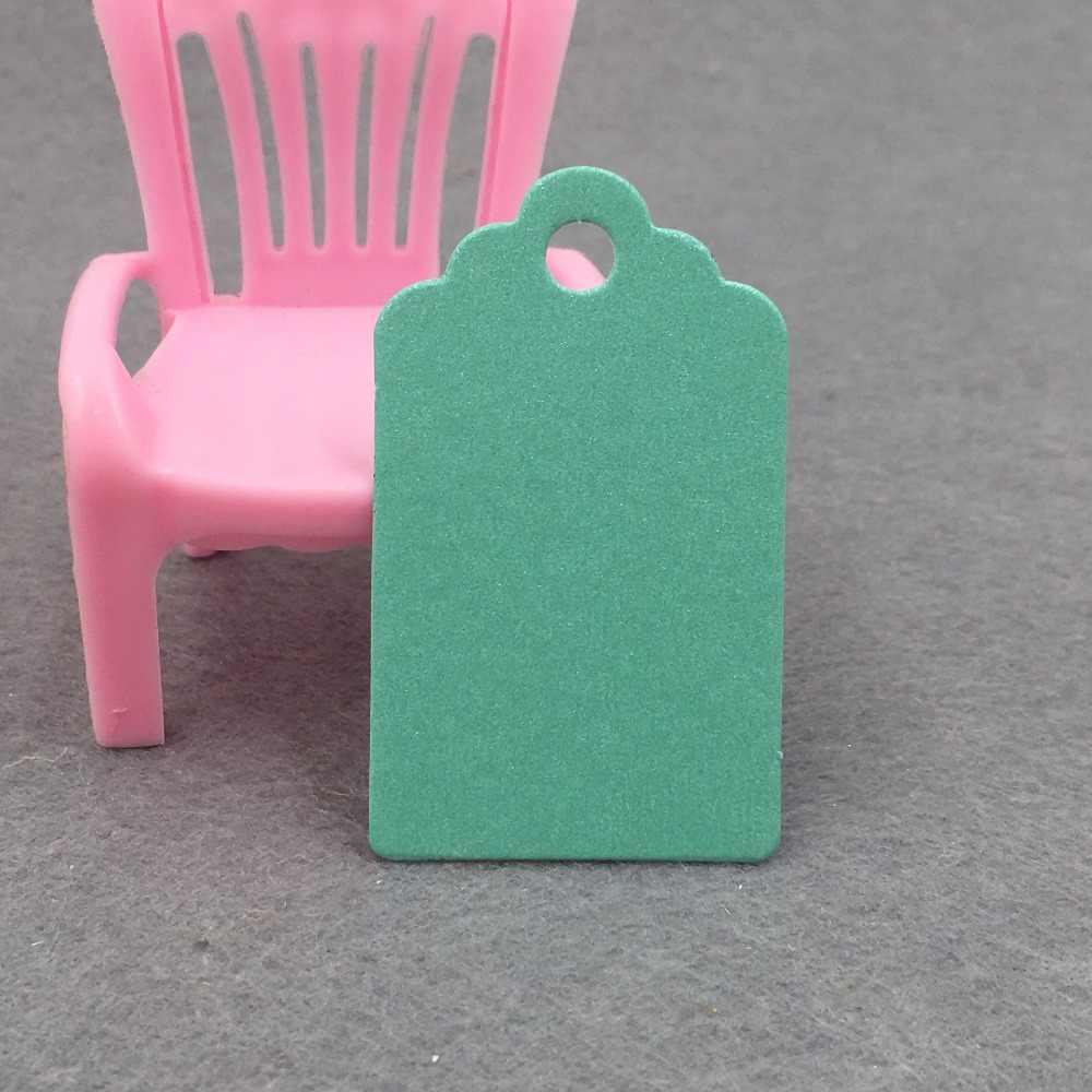100 piezas ondulado Kraft Tarjeta de papel/etiqueta en blanco/de la boda favor regalo etiqueta de precio con el regalo y parte etiqueta 5x3 cm