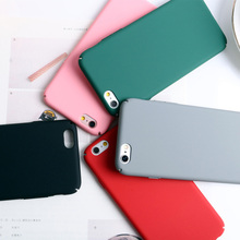 Pink Pure Color Matte Anti Knock Frosted Phone Case for iPhone 6 6S 6SPlus Ultra Thin Full Cover Phone Cases for iPhone 7 7Plus