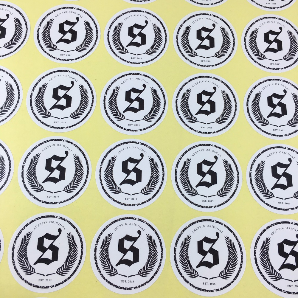 Wholesale round 5cm custom sticker labels custom logo printing moq1000pcs 1 order