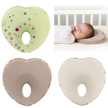 Love Nest Infant Newborn Baby Ergonomic Memory Pillow Head Support Prevents Flat Head(China)