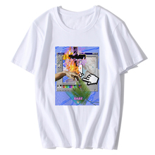 52dd1092df3 Vaporwave T Shirt Aesthetic Vintage Style Men Fashion High Quality T-shirt  Casual 100%