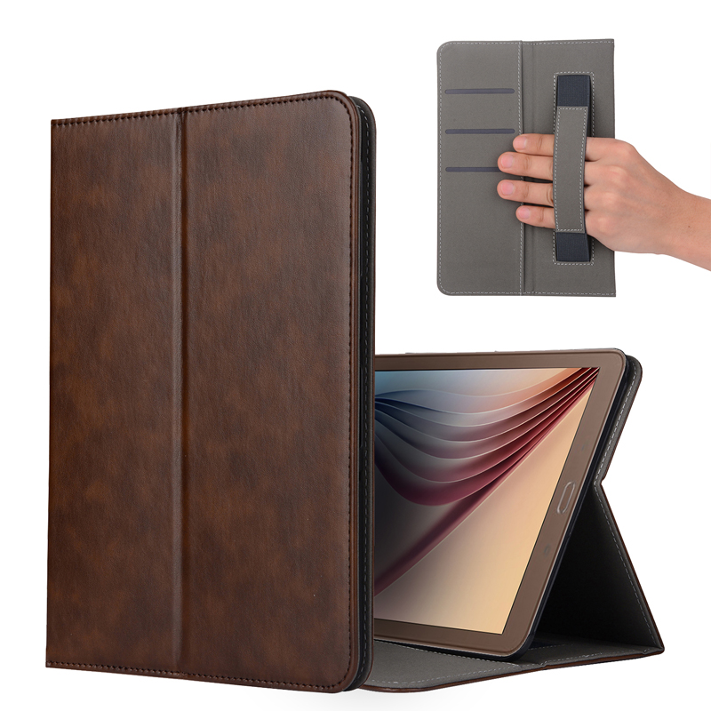 New Business Leather smart Case For Samsung Galaxy Tab S3 T820 T825 9.7 inch Tablet Cover with Hand Holder and Card Solt +