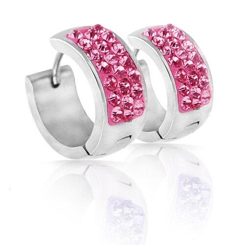 New arrival Wholesale jewelry fashion women earrings Elegant Black Gun Plated CZ Lady Earrings