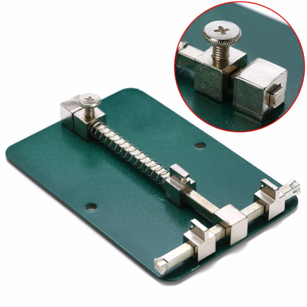 1pc Adjustable Metal PCB Holder 12cm X 8cm For Mobile Phone Repairing Rework Tool