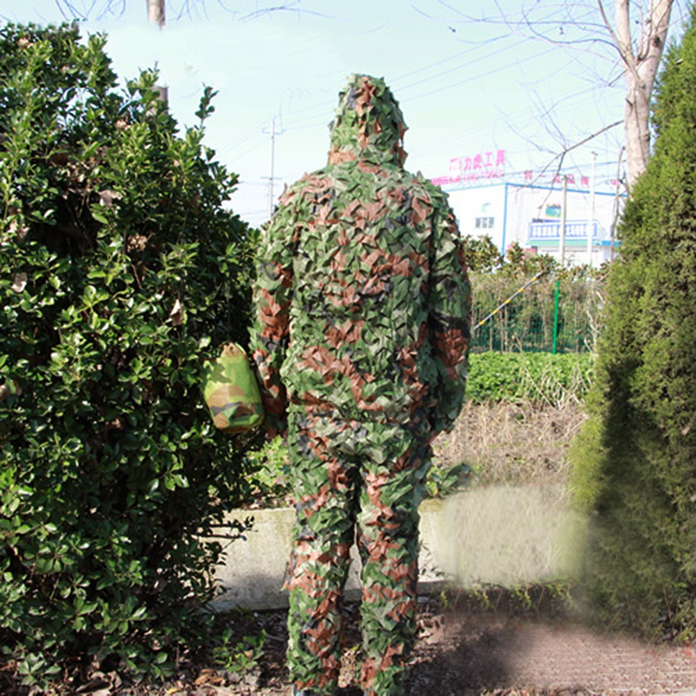 CS Hunting clothes New maple leaf Bionic Ghillie Suits Yowie sniper birdwatch airsoft Camouflage Clothing jacket and pants