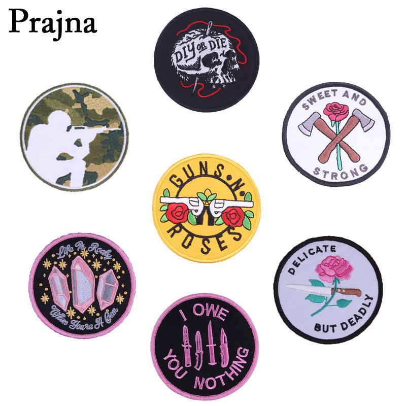 Prajna guns N Roses вышитый патч для одежды аппликация роза цветок оверлок рюкзак Железный На заплатках Жан значок наклейки E