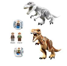 Jurassic Dinosaur World Figures Tyrannosaurs Building Block Toys Gift For Children Assembled Educational All