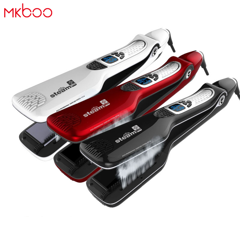 MKBOO Hair Straightener iron Hair Flat Iron Professional Steampod Hair Straightener Electric Steam Hair Straightener hair straightener iron hair flat iron professional steampod hair straightener electric steam dry wet hair