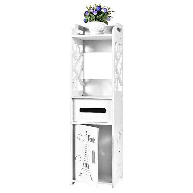 Aliexpress.com : Buy Floor Mounted Bathroom Shelf PVC Toilet Storage ...